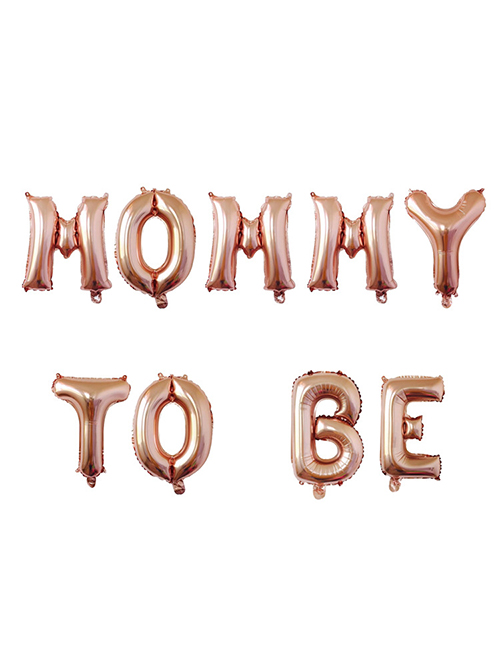 Fashion Rose Gold Mommy To Be Letter Foil Balloon Set