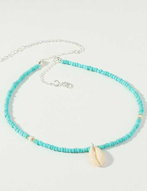 Fashion Silver Rice Beads Series Shell Necklace