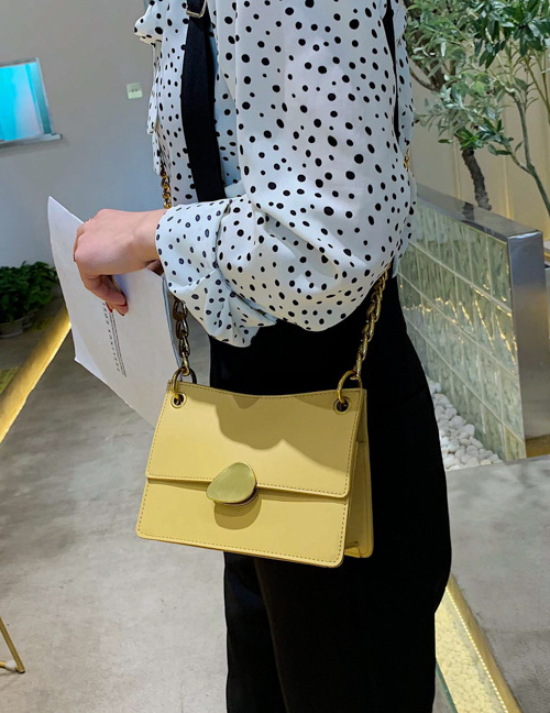 Fashion Yellow Big Shoulder Messenger Bag
