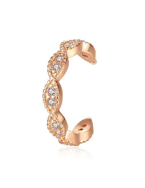 Fashion Gold Copper Inlaid Zirconium Single Ear Bone Clip