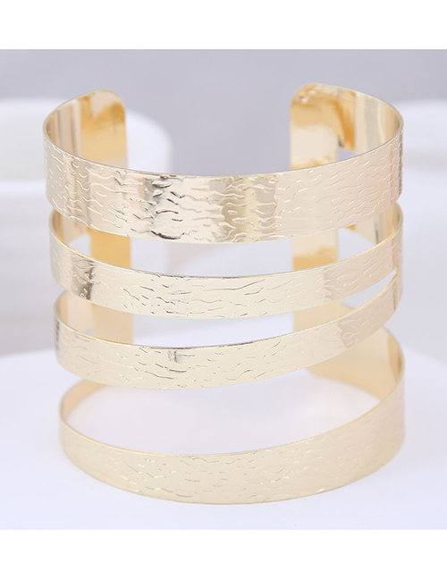 Fashion Gold Metal Opening Bracelet