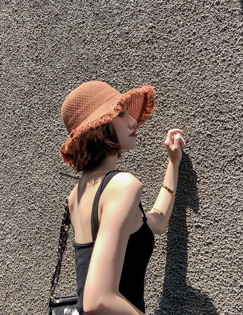 Fashion Caramel Raw Fisherman Hat