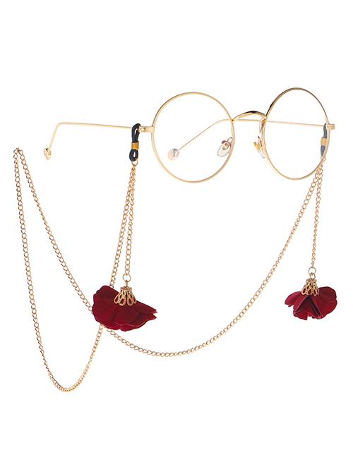 Fashion Gold Metal Eye Safflower Glasses Chain