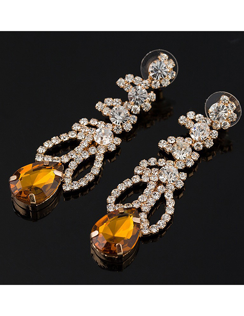Fashion Yellow Diamond Earrings