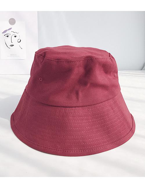 Fashion Light Board Canvas Wine Red Fisherman's Hat