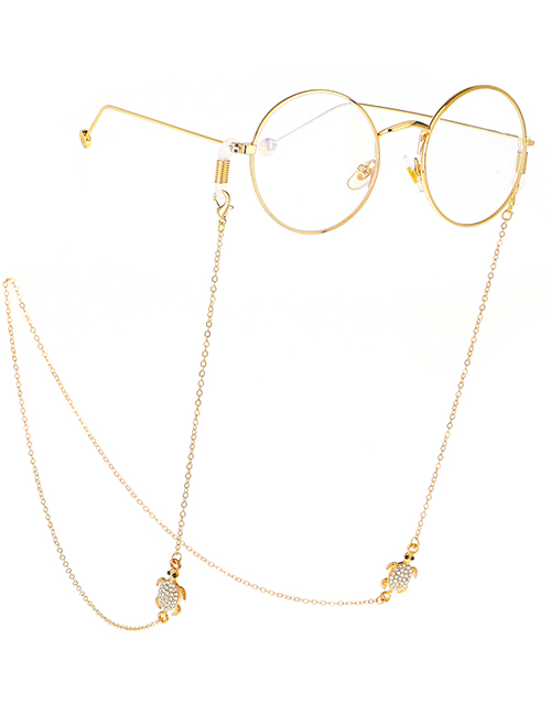 Fashion Gold Rhinestone Turtle Chain Metal Glasses Chain