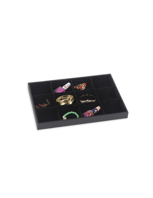 Fashion Large Black Leather Plate 12 Jewelry Display Stand