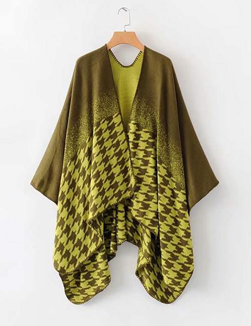 Fashion Yellow Geometric Pattern Shawl