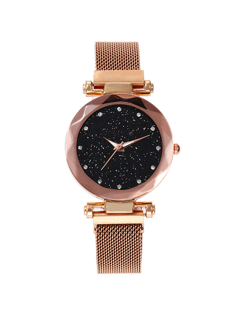 Fashion Rose Gold Tape Star Watch  Electronic Element