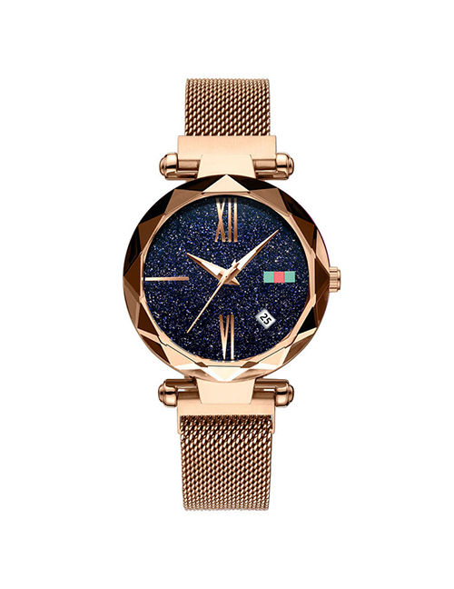 Fashion Rose Gold Tape Watch Starry Sky Watch  Electronic Element