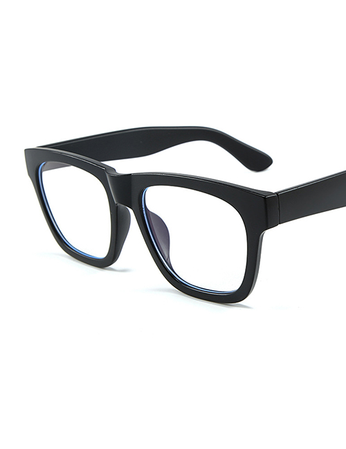 Fashion Frosted Black Frame Blu-ray Flat Mirror Glasses