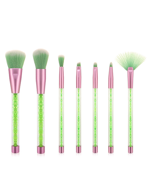 Fashion Green 7 Sticks Of Granules With Plastic Handle Sequins