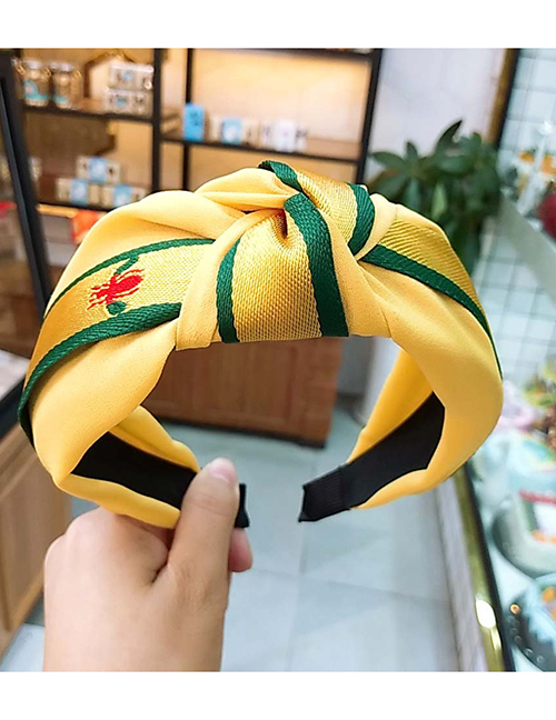 Fashion Yellow Little Bee Wide Side Knotted Headband
