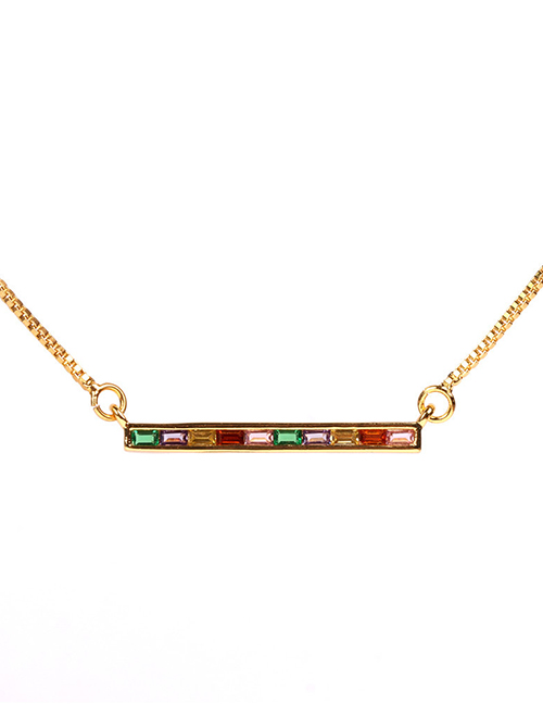 Fashion Gold A Zigzag Necklace