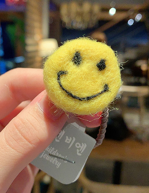 Smile Size Is About 3cm Wool Felt Hair Ring  Rubber Band