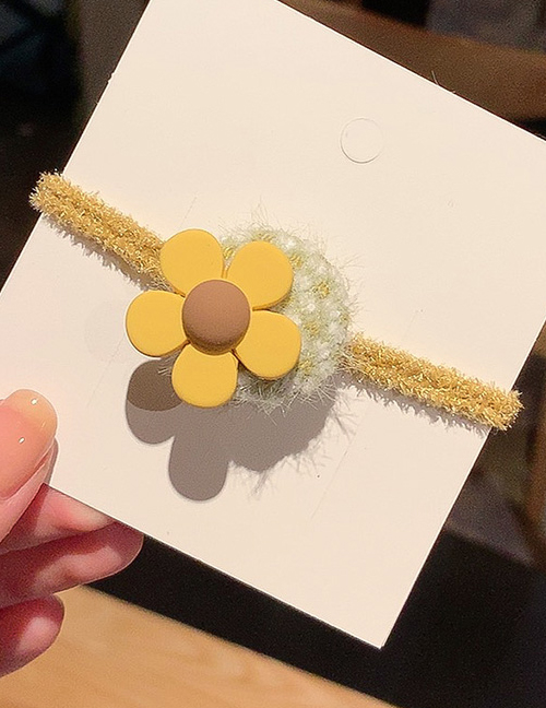 Yellow Flower Fruit Plush Rope  Rubber Band