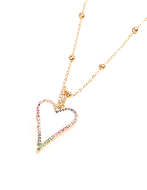 Fashion White Dripping Love Diamond Necklace