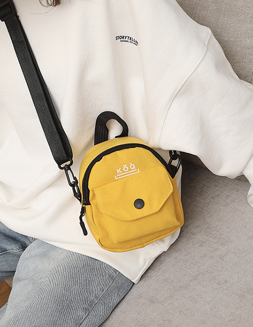 Fashion Yellow Corduroy Canvas Shoulder Bag
