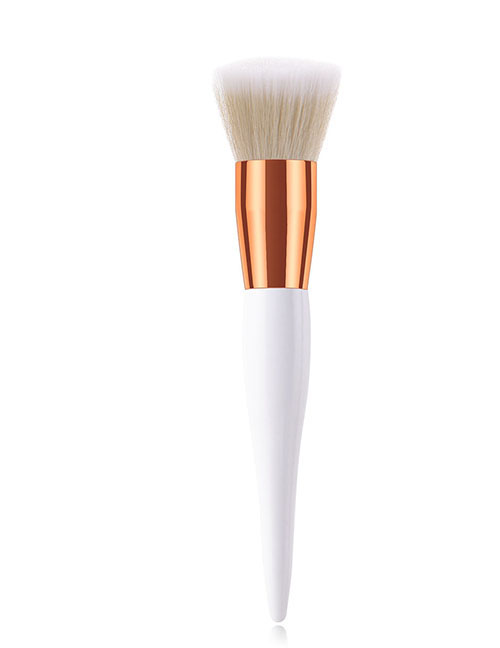Fashion Platinum Single Stick Small Pregnant Belly Flat Head Makeup Brush