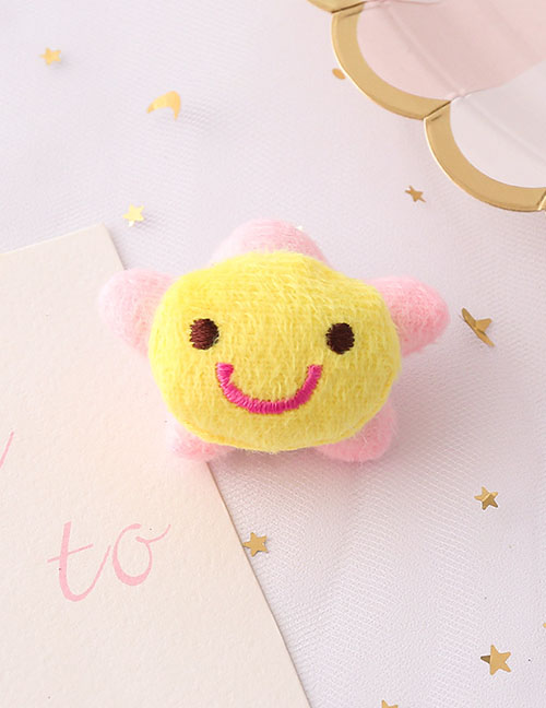 Fashion Sun Flower Sun Flower Plush Embroidered Brooch