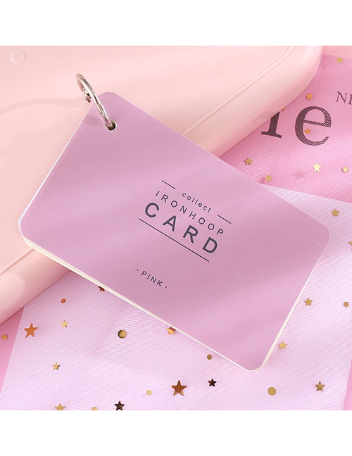 Fashion Large (pink) Iron Ring Portable Tearable Note Pad