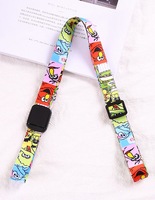 Fashion Colored Sesame Street-universal Water Bottle Thermos Universal Cross Strap Strap Buckle