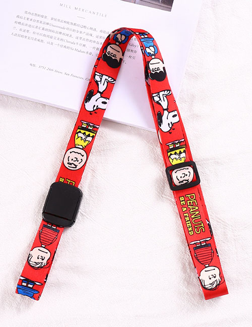 Fashion Red Snoopy-magnum Water Bottle Thermos Universal Cross Strap Strap Buckle