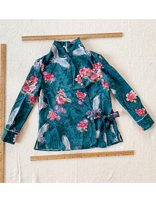 Fashion Color Printed Bow Top