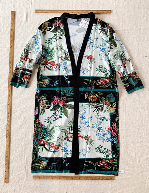 Fashion Color Printed V-neck Kimono Jacket