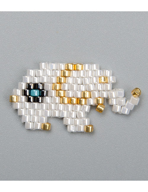 Fashion White Elephant Bead Braided Beaded Accessories