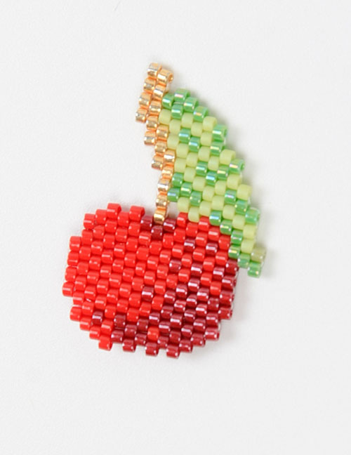 Fashion Red Cherry Bead Woven Fruit Plant Flower Series Accessories
