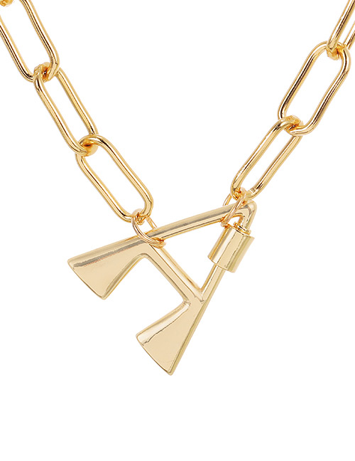 Fashion Gold Color A (40cm) Alloy Letter Necklace