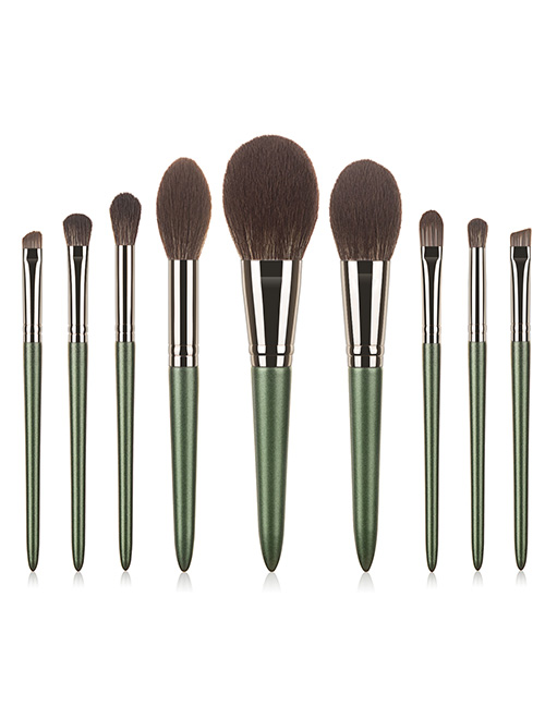 Fashion Green Fairy Nylon Hair Makeup Brush With Wooden Handle