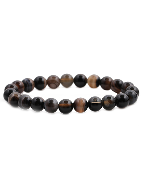 Fashion Tiger Eye Tiger Eye Stone White Pine Blue Dot Adjustable Bracelet