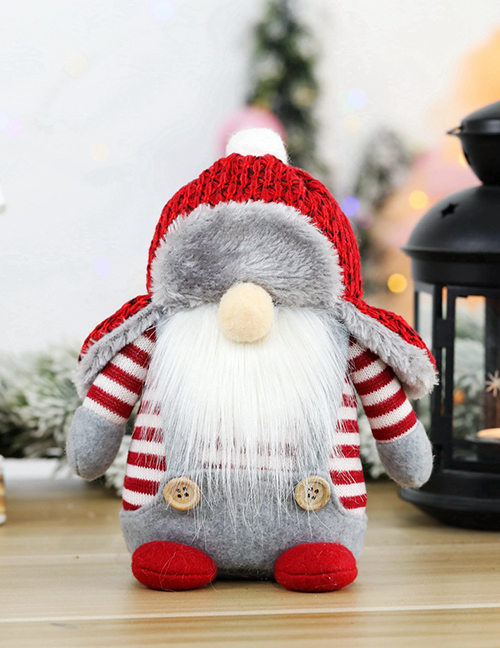 Fashion Round Leifeng Hat Faceless Sitting Figure Santa Claus Faceless Doll Doll Window Decoration Ornaments