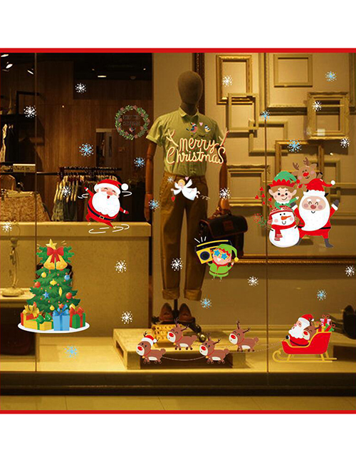 Fashion Snowman Christmas Window Glass Doors And Windows Do Decoration Wall Stickers