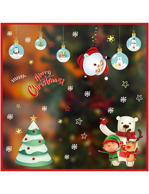 Fashion Polar Bear Christmas Window Glass Doors And Windows Office Decoration Wall Stickers