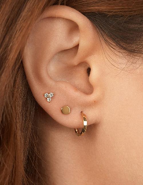 Fashion Set Of 3 Diamond Geometric Alloy Earring Set