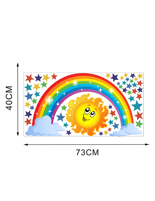 Fashion L-40*73cm Rainbow Star Sun Children S Room With Removable Wall Stickers