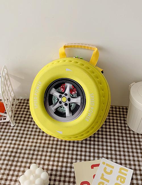 Fashion Yellow Tire Print Kids Backpack