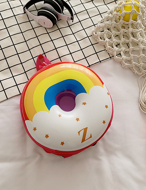 Fashion Rainbow Donut Print Kids Backpack