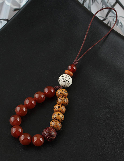 Fashion Bodhi Red Agate Ring Rope Bodhi Agate Buckle Mobile Phone Lanyard