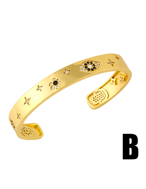 Fashion B Diamond-studded Bamboo Eye Palm Opening Bracelet