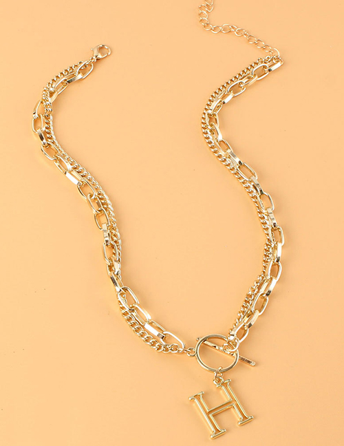 Fashion Gold Color Alloy Letter Necklace