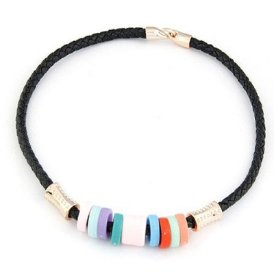 Hipster Black Candy Circles Decorated Design CCB Chokers