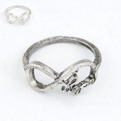 Fashion Antique Silver Vintage Lucky Digital 8 Design(Letters Will Be Random) Alloy Korean Rings