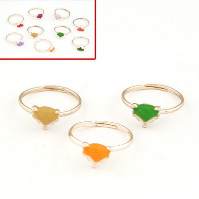 Fashionabl Color Will Be Random Fox Decorated Design Alloy Korean Rings