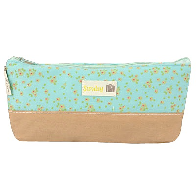 Awesome Sky Blue Flower Sea Design Cotton Pencil Case Paper Bags