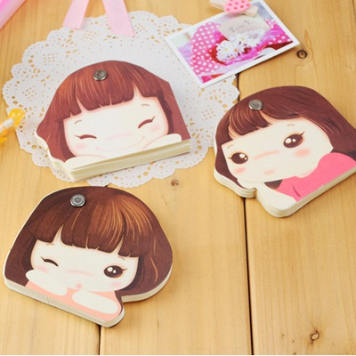 Plus Size Color Will Be Random Cute Girl Pattern Paper Postcard Card