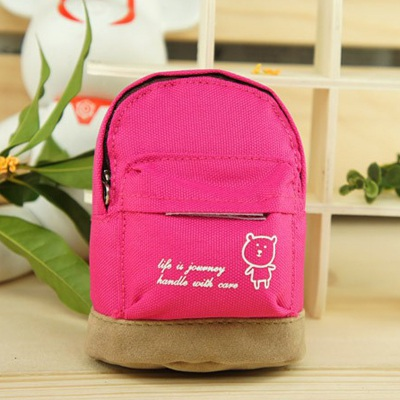 Genuine Plum Red Mini Bookbag Design Canvas Other Creative Stationery